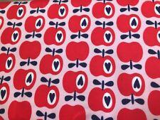 "25 cm Jersey Kinderstoff Hilco Shirt ""Simply Apples"" Apfel 🍎 Rot Auf Rosa"