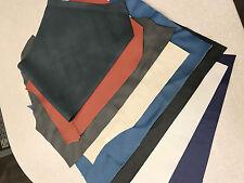 "Scrap Leather Craft Mixed Upholstery Medium size pieces 12"" sq minimum new"