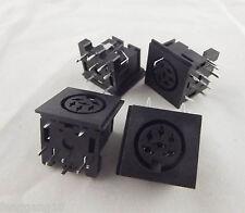 10pcs DIN 6 Pin Circular Jack Female Panel Mount PCB Mount Connector Adapter