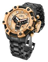 NEW Invicta 33658 SHAQ 58MM Rose Gold Dial Quartz Gunmetal Bracelet Watch