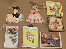 """#Lot of (7) VINTAGE TALLY SCORE CARDS """"Mixed"""" 2.5 x 2.5"""""""