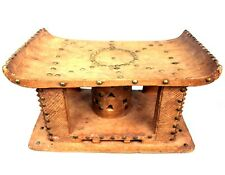 Art Africain - Ancien Tabouret Ashanti - Bois & Clous - Sculpture TOP - 43,5 Cms