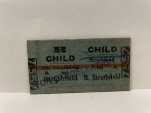 NSWGR Railway Child Return Ticket Nth Strathfield to Strathfield 1959