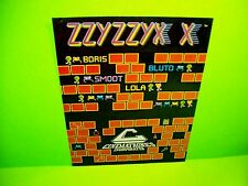 Cinematronics ZZYZZYXX 1981 Original Retro Video Arcade Game Promo Sales Flyer
