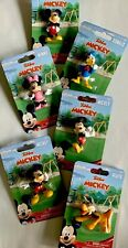 Mickey Mouse Collectible Figures, MICKEY, MINNIE, DONALD, PLUTO, Set Of 6-NEW