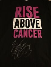 FINN BALOR SIGNED WWE RISE ABOVE CANCER T SHIRT PSA/DNA 2