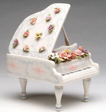 ♫ New MUSIC BOX Porcelain GRAND PIANO Vintage Style MUSICAL FIGURINE Fur Elise