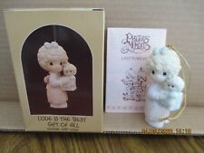Precious Moments 1987 Ornament Love Is The Best Gift Of All 109770