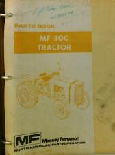 Massey Ferguson Mf50c Tractor Parts Manual Catalog Book 651378m92 Repair Book