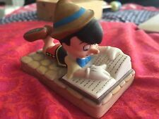 Disney Pinocchio Reading Grolier Porcelain FIGURINE