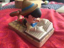 Disney Pinocchio Reading Grolier Porcelain FIGURINE