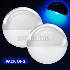 2*LED 12V MARINE BOAT COCKPIT DECK CABIN COURTESY LIGHTS STAIR STEP DÉCOR BLUE