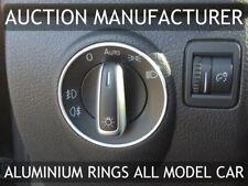 VW Polo 9N  9N2  6R -Alluminio Surround 1x Anello cromato per interruttore luce