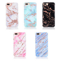 For iPhone 8 Plus XR XS Max XS X 8 7 6S Marble Stand Holder Soft TPU Case Cover