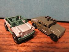 Two Matchbox Vehicles 2002 Willy's Jurassic World Concept Jeep And 1994 Hummer U