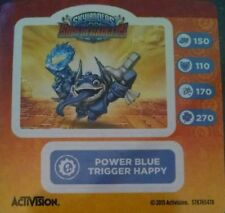 Power Blue Trigger Happy Skylanders Superchargers Sticker Only!
