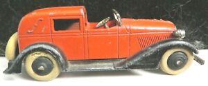 Vintage Tootsietoy Graham Series #516 Red/Black 5 Wheel Town Car Nice Shape