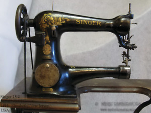 Singer 18- Commercial Sewing Machine Restoration Decals Acanthus Leaves 40945
