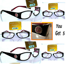 Super Special Lot of 5 +1.50 Magnivision Foster Grant Elizabeth Reading Glasses