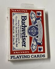 Budweiser Playing Cards Classic Bud Logo Standard Card Deck Bud Cards Sealed New