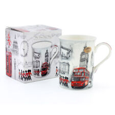 London Mug Fine China Boxed Iconic Scenes Big Ben Red Bus LP98793 By Leonardo