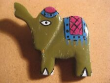 Phillipines Wood elephant Pin Brooch Jewelry