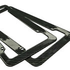 Plastic Carbon Fiber Style License Plate Frames Front & Rear Braket 2pc Set