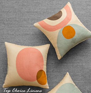 Home Mix & Match Fully Embroidered Retro Geometric Cushion Cover Single Side 45S