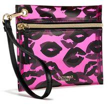 Victorias Secret Makeup Bag Train Case Set Hanging Clear  Lips Kiss Lipstick NWT