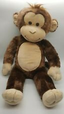 "Build A Bear Monkey 18"" Plush Stuffed Animal BABW Brown Soft Toy Brown Smiling"