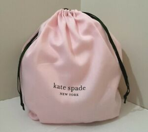 """New Kate Spade small Drawstring Dust bag size 13.5"""" x 11"""" Pink"""