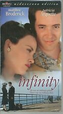 Infinity (VHS, 1998) FACTORY SEALED NEW MATTHEW BRODERICK PATRICIA ARQUETTE NOS