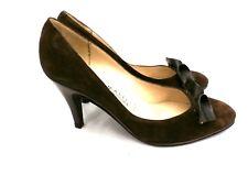 Vtg Womens Shoes Amalfi Rangoni Brown Suede Pumps 6B 1980S