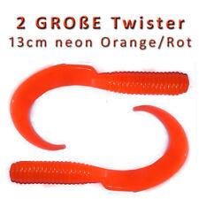 2 GROßE Twister 13cm Dorsch Köhler Köder Gummischwänze Angeln Angelhotspot X