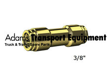 """Brass Nylon Air Line Joiner 3/8"""" DQ62DOT06 - Push-to-connect DOT Approved"""