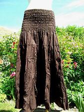 Belle Jupe longue à volants, 100% coton, T 34 au 42, hippie chic rajasthan inde