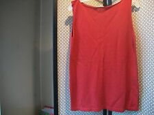 UNITED COLORS OF BENETTON Italy Ladies Sz M RED Sleeveless Tank Top Free Ship