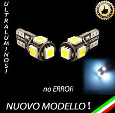 2x LAMPADA LUCI TARGA T10 LED CANBUS CON RESISTENZA INTEGRATA 100% NO ERROR