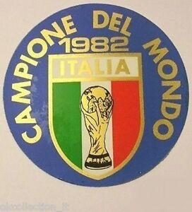 VECCHIO ADESIVO / Old sticker ITALIA CAMPIONE MONDO Mondiali Calcio 1982 (cm 9)