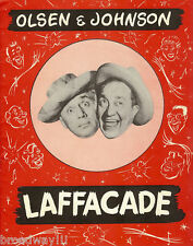 "Olsen & Johnson ""LAFFACADE"" Roxyettes / Salici Puppets '47 FLOP Souvenir Program"