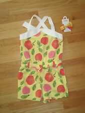 Girl Gymboree SWEET PEACH Yellow romper outfit & Hair Bow set NWT 7