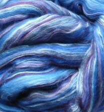Scarf KIT Damson Plum  Silk Merino wool roving wet felt nuno spin soap blue