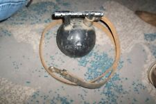 Antique 7.5LB Carriage Weight Horse Tether ~ Aluminum w/ Lether Strap & Hasp