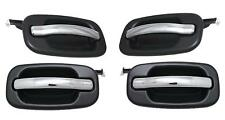 NEW SET OF 4 DOOR HANDLES BLACK BEZEL CHROME LEVER FOR 2000-06 CHEVROLET TAHOE