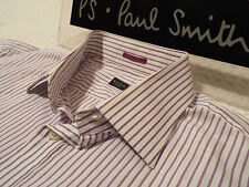 """PAUL SMITH Mens Shirt 🌍 Size 17"""" (CHEST 46"""") 🌎 RRP £95+ 🌏 SUPERBLY STRIPED"""