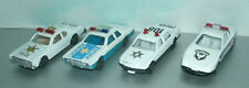 Four 1/64 Scale Basic Police Car Diecast Toy Emergency Vehicles - Cheap Cars
