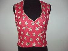 Rhinestone Gold Star Cheerleader Majorette Vest- Clown Costume? USA Pageant sz M