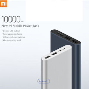 Xiaomi Mi Power Bank 10000mAh Quick Charge 3.0 External Charger USB Battery Pack