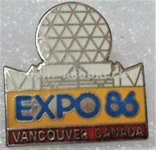 EXPO 86 EXPO CENTER DOME - RENAMED SCIENCE WORLD Vancouver BC CANADA Pin