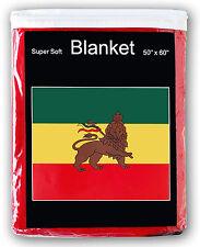 Ethiopian Flag Fleece Blanket *NEW* 5 ft x 4.2 ft Lion of Judah Ethiopia Travel
